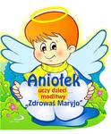 Aniołek uczy dzieci modlitwy Zdrowaś Maryjo