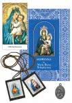Nowenna do Matki Bożej Szkaplerznej + Szkaplerz, Medalik, Obrazek